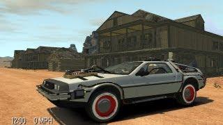 Grand Theft Auto IV - Back To The Future Delorean Time Machine (MOD) HD