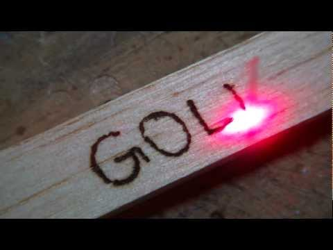 DIY - Laser Lighting, Wooden Writing
