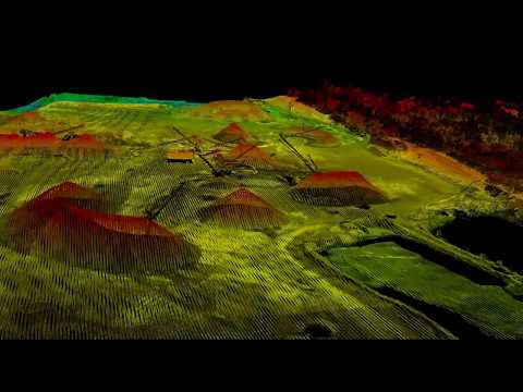 Lidar démo Mine fly by