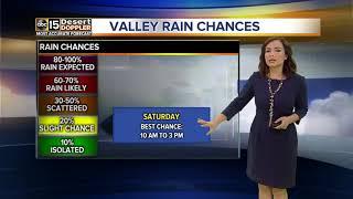 Rain, snow chances in Arizona this weekend