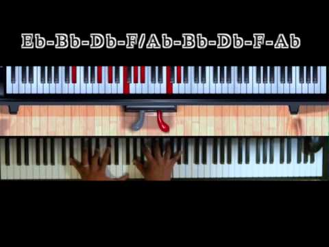 I Will Bless The Lord (rev) - Byron Cage Easy Gospel Keyboard Tutorial