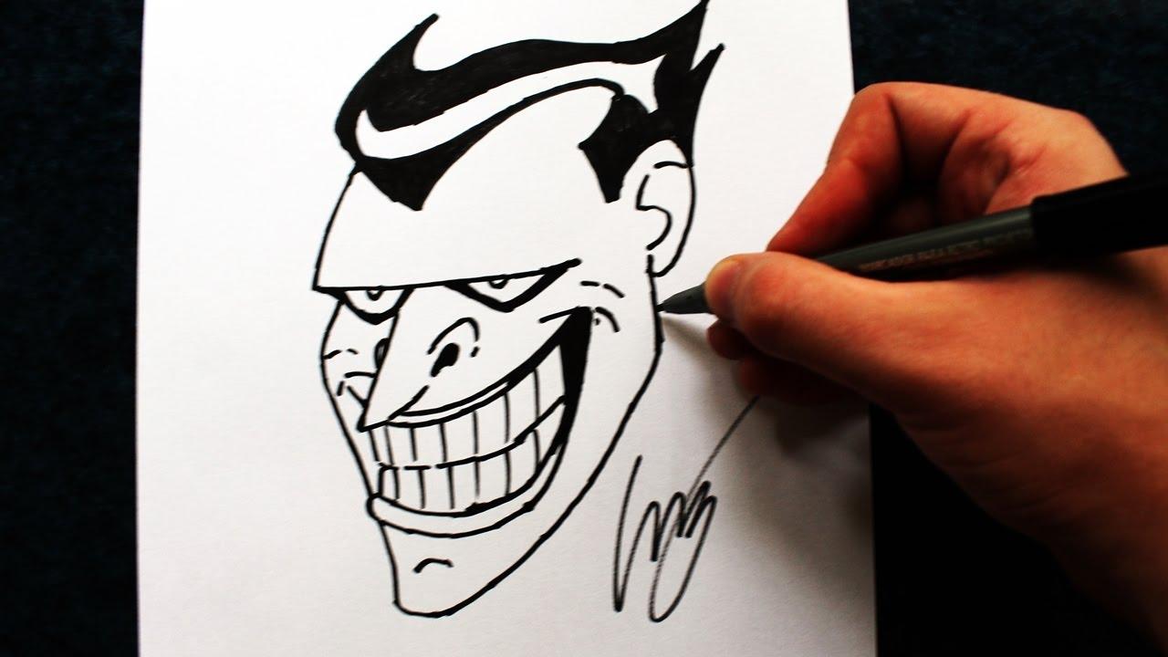 Como Desenhar O Coringa Animated Series How To Draw Joker