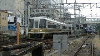 平日朝の南海高野線堺東駅(字幕入り)
