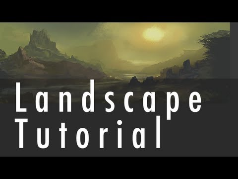 Landscape Painting Tutorial | GrawvyRobber