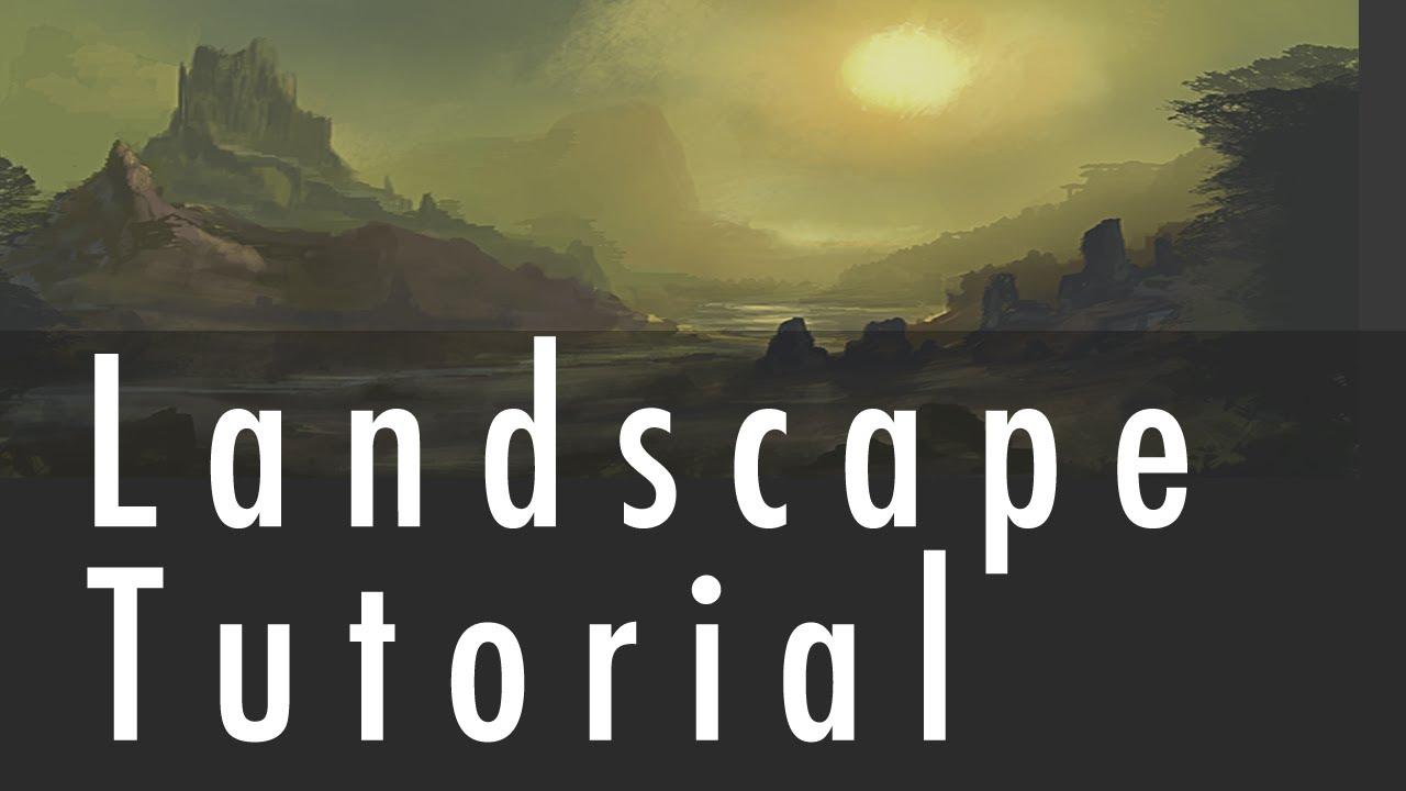 Landscape painting tutorial grawvyrobber youtube baditri Images