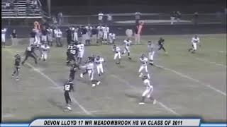 DLloyd 2010 High School Football Highlights (Senior Season)