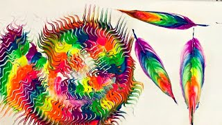 Satisfying Art Video / Abstract Feathers / Acrylic Painting #19