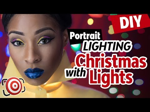 🎄 DIY Christmas Light Portrait and Fairy Light Beauty Shot Ideas.