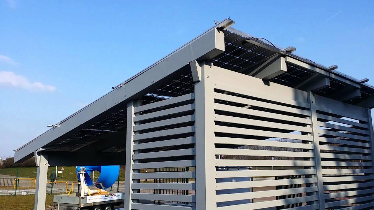 Zonnepaneel carport incl auto laden - YouTube