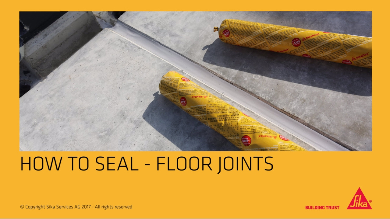 Application Sealing Floor Joints Youtube