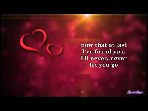I'LL NEVER LET YOU GO - (Lyrics) - YouTube