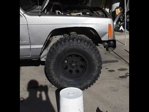 Cutting XJ Front Fenders To Fit 33's With NO LIFT!