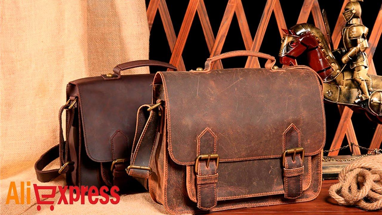 05ac97cbccaf Мужская кожаная сумка из Китая. AliExpress - YouTube