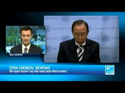 "Syria: Damascus chemical attacks a ""war crime"", Ban Ki-Moon says"