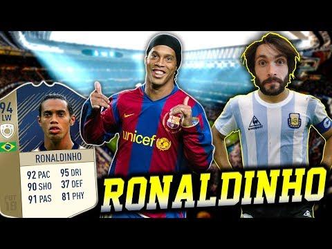 RONALDINHO  NAJBOLJI DRIBLER SVIH VREMENA! FIFA 18 Squad Builder