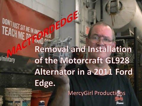 Ford Edge alternator removal and installation 2007 thru 2014
