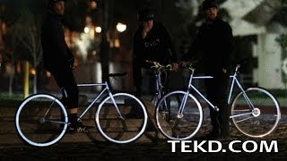 The Lumen Bicycle Uses Ambient City Lights to Glow Bright