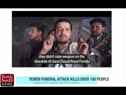 Yemen Funeral attack kills over 100 people, caused by US-backed, Saudi-led Coalition