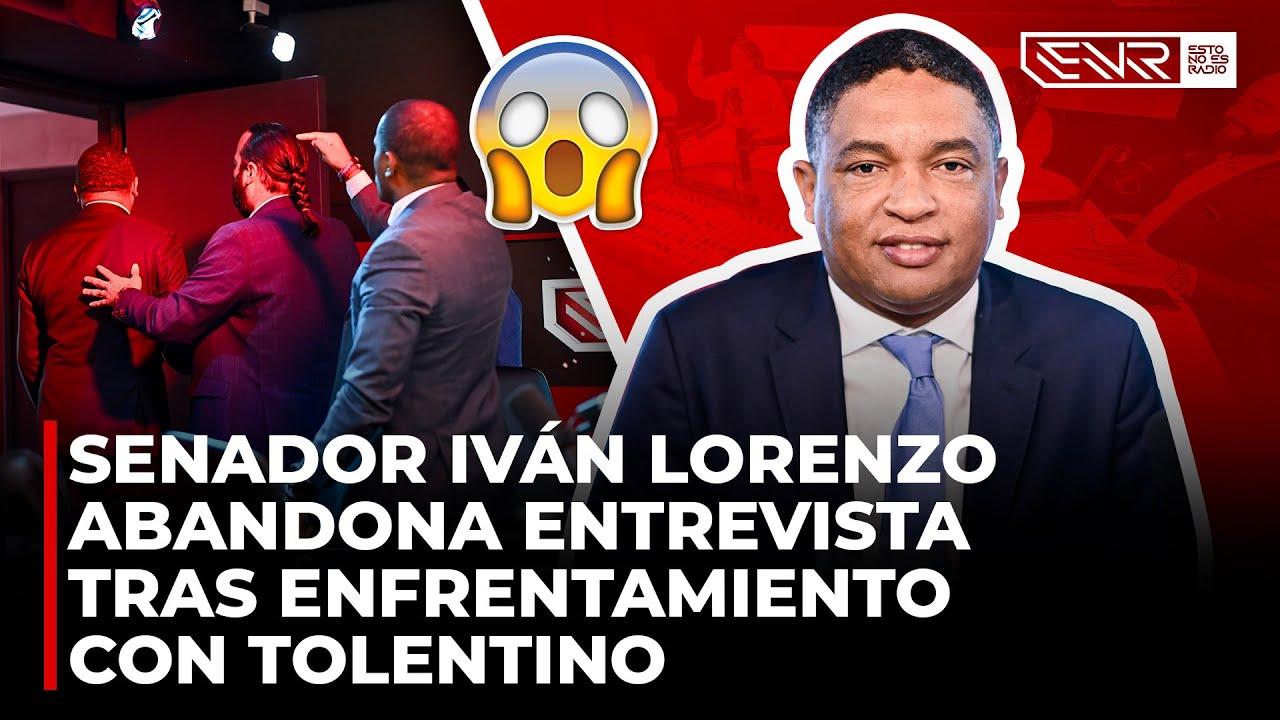 SENADOR IVAN LORENZO ABANDONA ENTREVISTA POR RAMON TOLENTINO