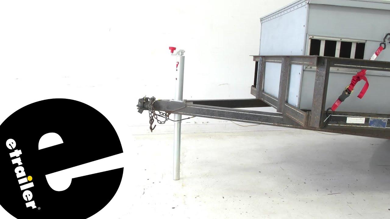 review bulldog round a frame trailer jack bd155028 - etrailer.com ...