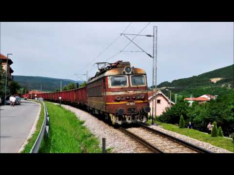 Two freight trains in Dimitrovgrad,Serbia