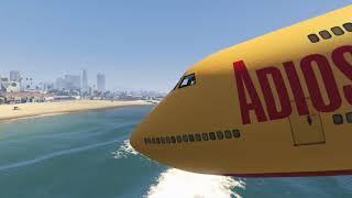 Cinematic plane crash (GTA 5)