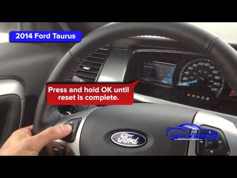 2014 Ford Taurus Oil Light Reset / Service Light Reset