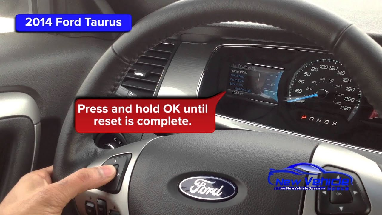 2014 Ford Taurus Oil Light Reset Service Light Reset