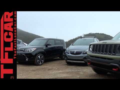 2015 jeep renegade vs nissan juke vs kia soul vs buick encore mashup review youtube. Black Bedroom Furniture Sets. Home Design Ideas