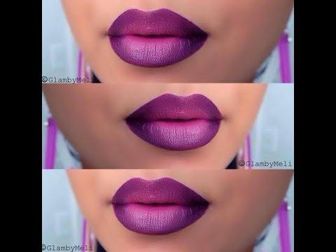 diy purple ombre lips