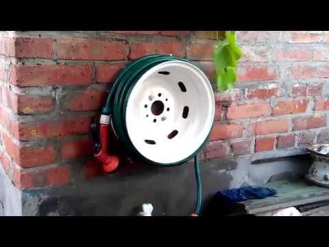 видео: Делаем катушку для шланга из автомобильного диска