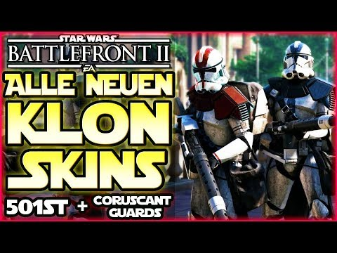 Alle neuen Klon-Skins! 501st & Coruscant Guards + Phase 1 & 2 - Star Wars Battlefront 2 thumbnail
