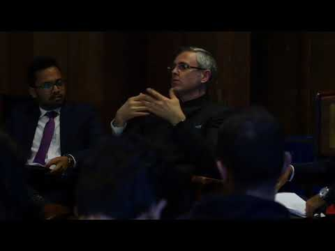 Question & Answer session with Omar Abdullah,former JK CM at Berkeley University on The Path Forward