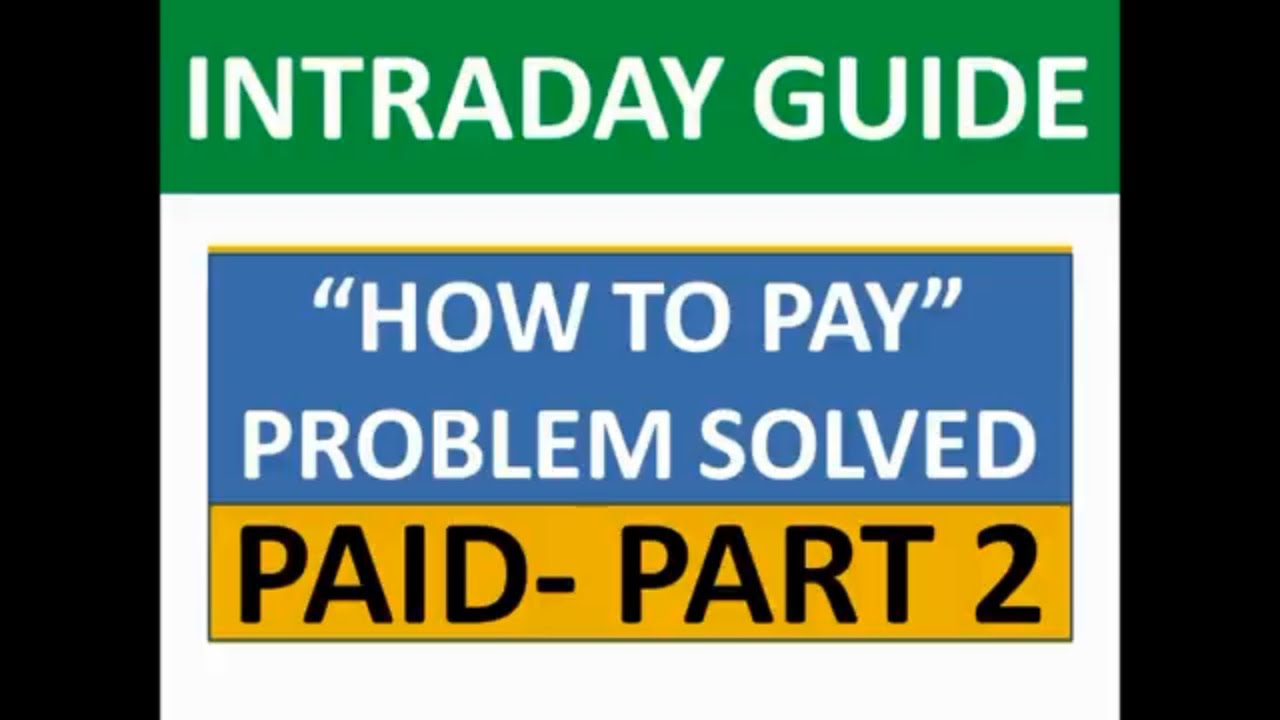 """HOW TO PAY"" PROBLEM SOLVED 