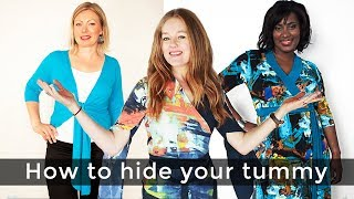 How to hide your tummy for women over 40 - over 40 style