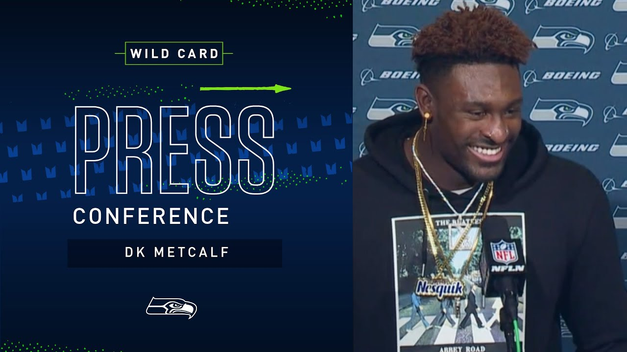 Dk Metcalf Postgame Press Conference At Eagles 2019 Seattle Seahawks Youtube
