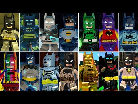 All Batman Characters And Suits In LEGO Videogames (DLC Included)