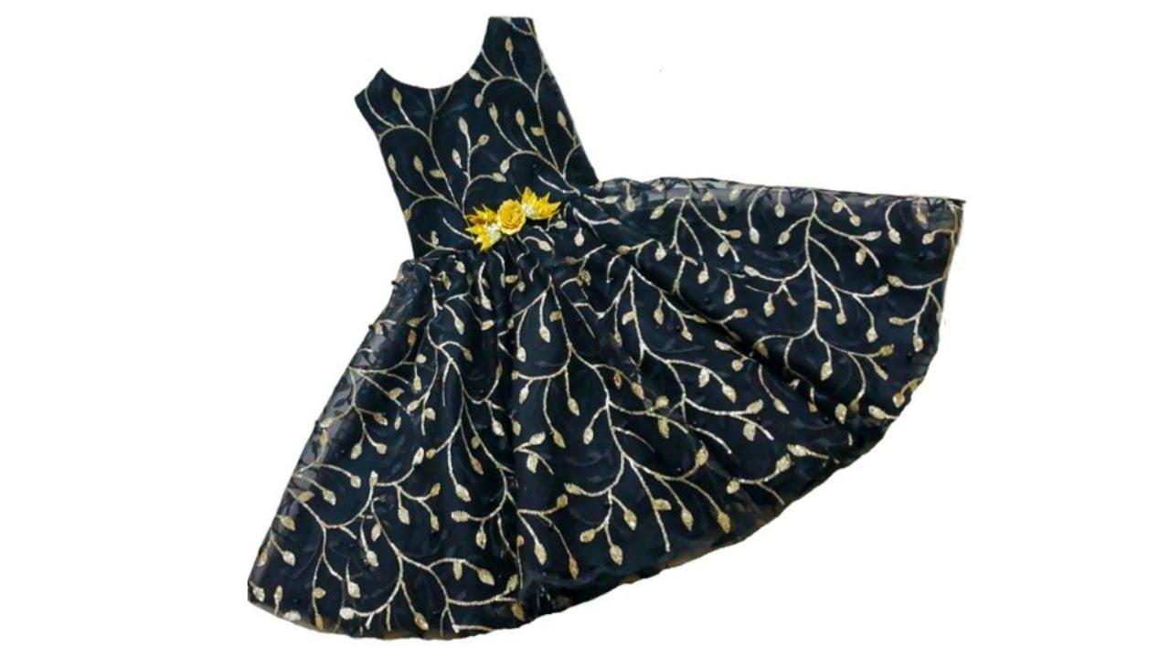 أحدث و أسهل خياطة فستان طفلة بتصميم فريد لأول مرة على اليوتيوب2020