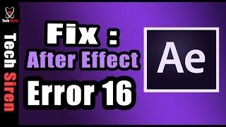 fix: after effect error 16