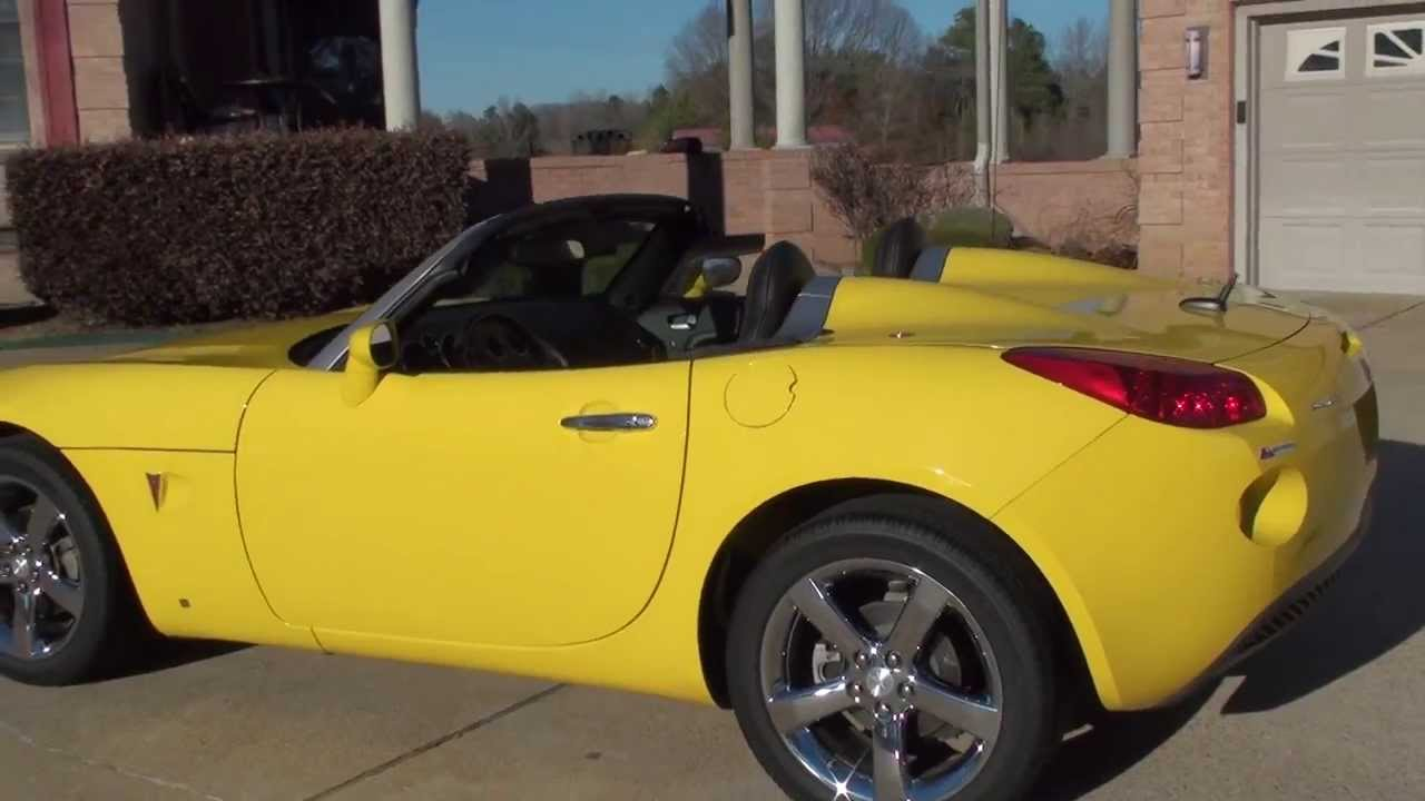 Hd Video 2008 Pontiac Soltice Yellow Convertible For Sale See Www Sunsetmilan Com Youtube