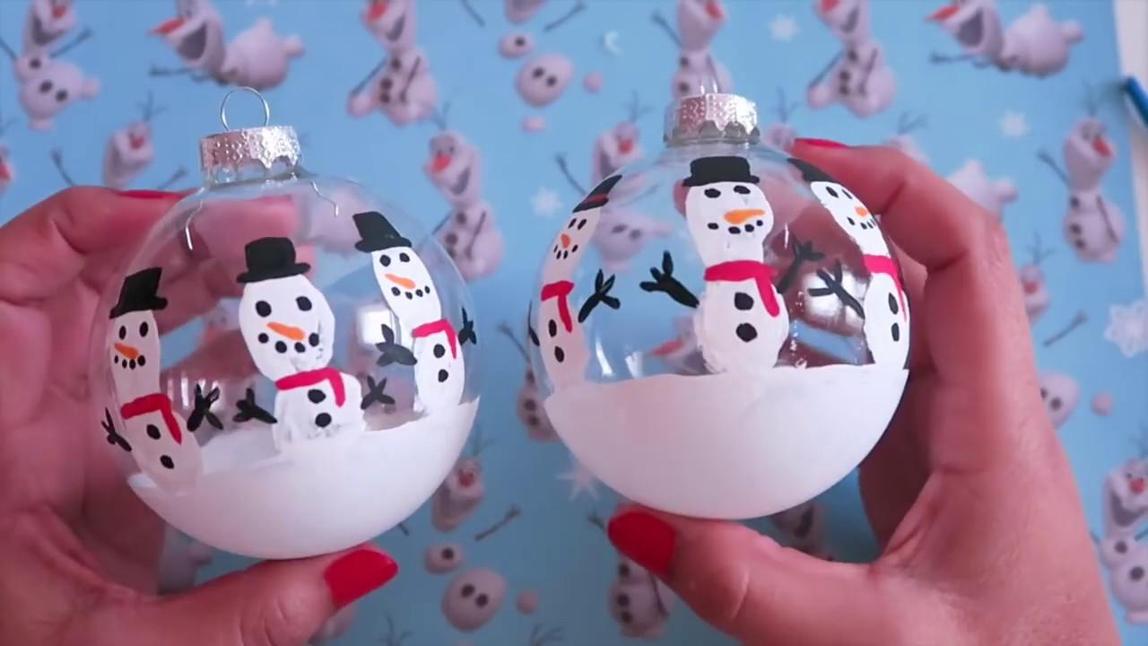 Haz Esferas Decoradas Navideñas Adornos Navideños Manualidades Para Navidad