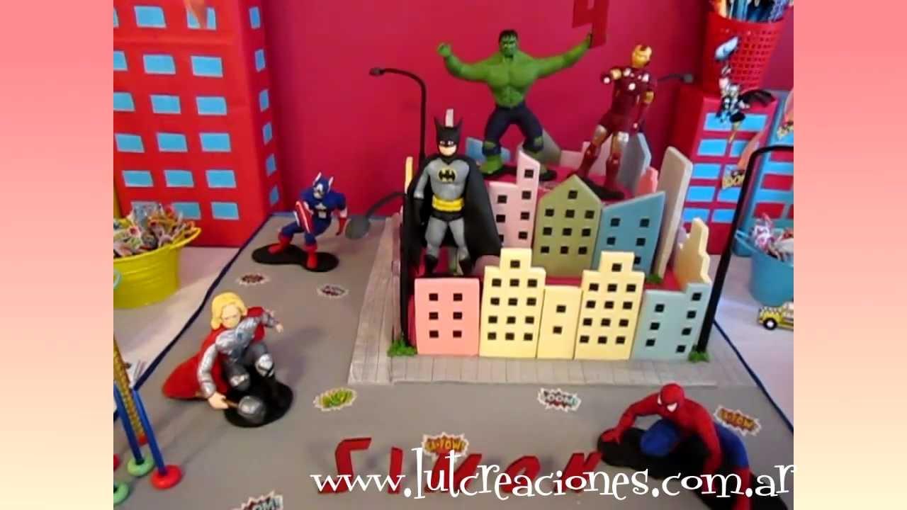 Torta Decorada Superhroes  Lut Creaciones Tortas