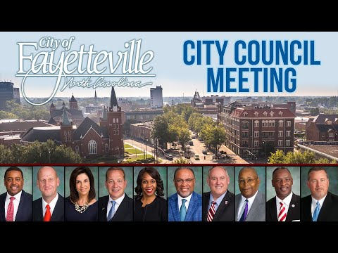 Fayetteville City Council Meeting- November 25, 2019