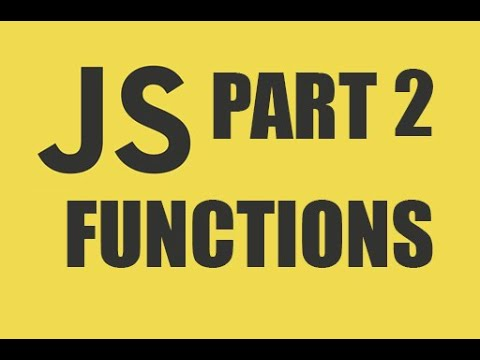 JAVASCRIPT TUTORIAL || FUNCTIONS || FOR ABSOLUTE BEGINNERS !! thumbnail