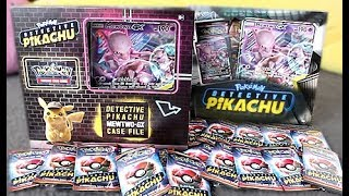 Mewtwo GX Detective Pikachu Case File Box Opening
