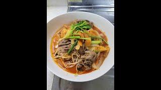 소고기 숙주 짬뽕 noodles
