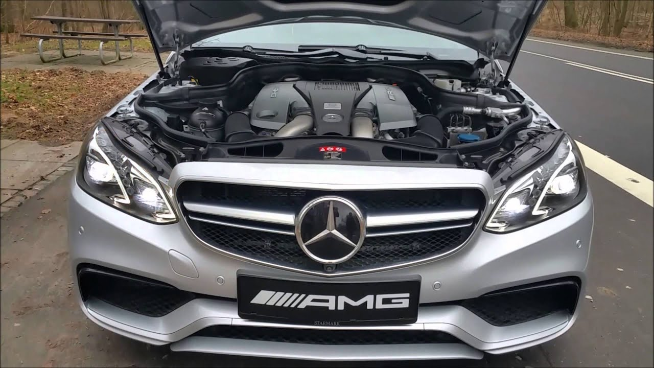 mercedes benz e63 amg v8 biturbo - youtube