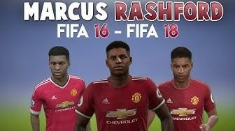 Marcus Rashford | FIFA 16 - FIFA 18 (Ingame Face, Skills, Stats, Shots, Passes, Goals, etc)