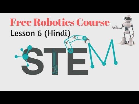 Online Robotics Course Lesson 6 (Hindi) Line Colour change Robot Programming