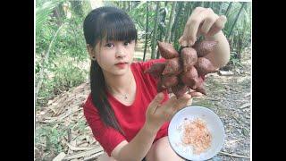 Lần Đầu ăn Trái Mây chấm nuối ớt siêu Thú vị ăn là ghiền.